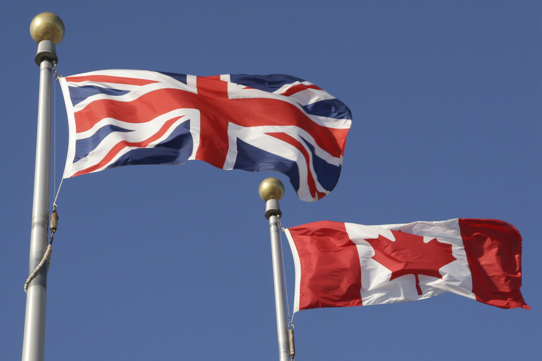 UK and Canadian flags